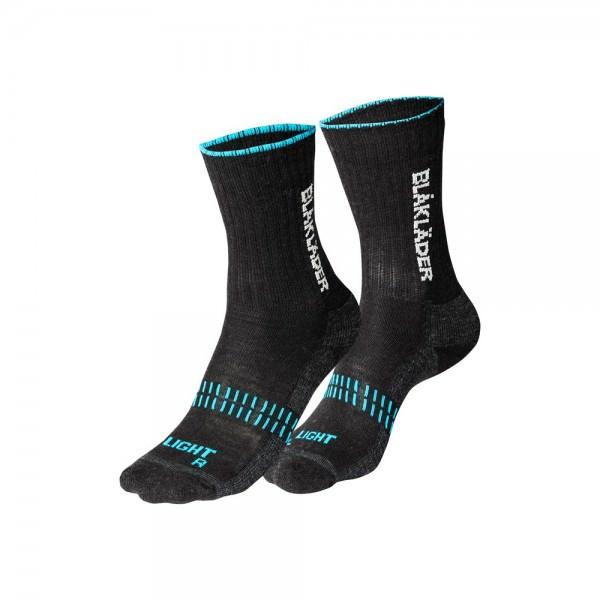 Blakläder Arbeitssocken Socken LIGHT schwarz neon blau