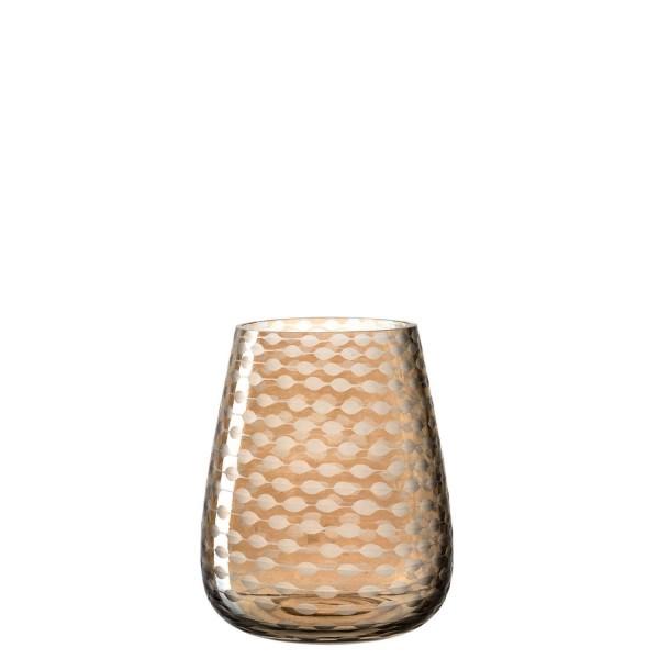 Leonardo 13cm Vase POSTO beige Glas handgefertigtes Unikat 070782