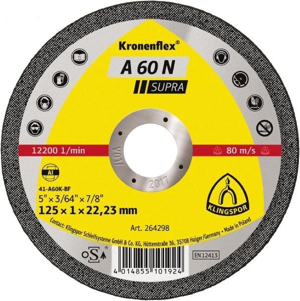 Klingspor Trennscheibe A60 N Supra 115x1x22mm oder 125x1x22mm Aluminium
