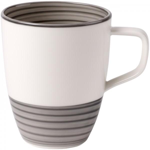 Villeroy & Boch 380ml Manufacture gris Kaffeebecher Porzellan