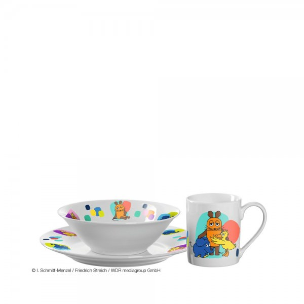 Leonardo 3-teiliges Kindergeschirr Set Sendung mit der Maus Porzellan 018652