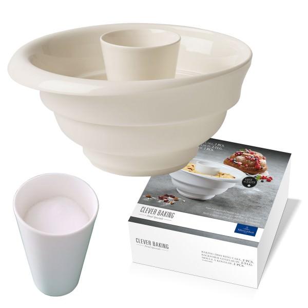 Villeroy & Boch 25cm 2-teilige Gugelhupfform Clever Baking Porzellan