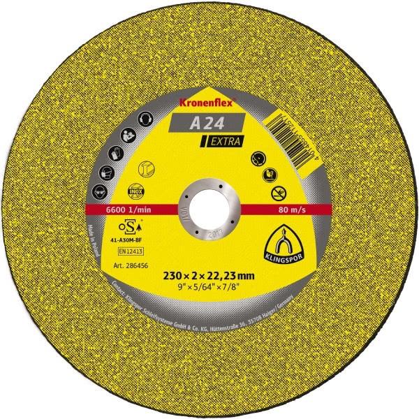 Klingspor Trennscheibe A24 Extra 125x2,5x22mm oder 230x3x22mm Metall