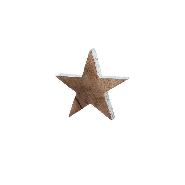 Leonardo 038606 Mangoholzstern AURORA 20 cm Goldrand