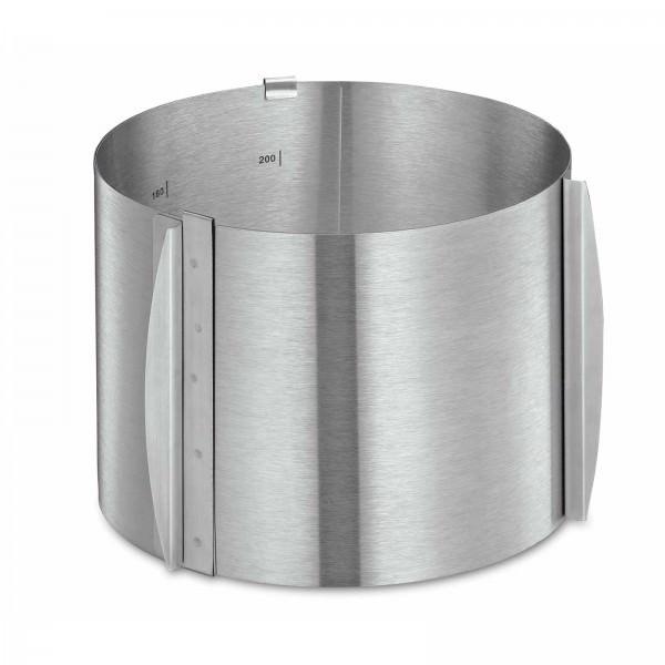 Küchenprofi 16x16x15cm Tortenring verstellbar rund BAKE rostfreier Edelstahl 0805832815