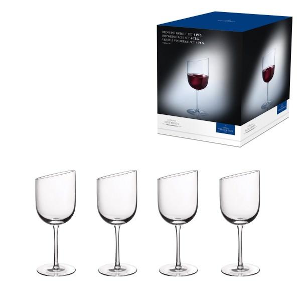 Villeroy & Boch 4-teiliges Rotweinglas Set NewMoon 405ml Kristallglas 1136538110