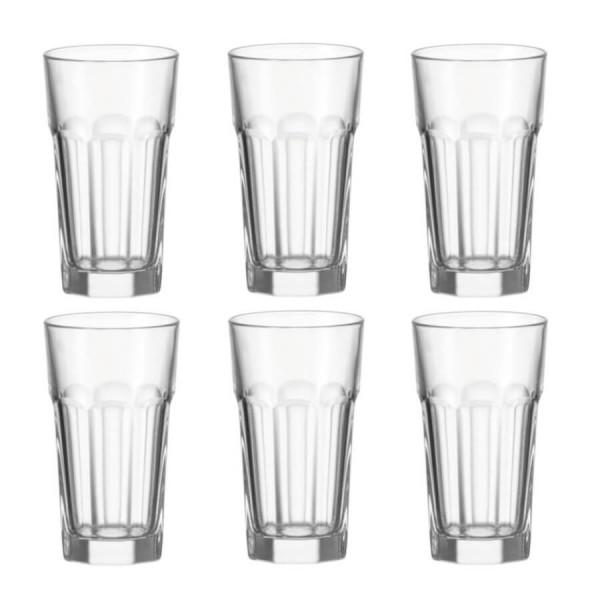 Leonardo 6er Set Glas 340ml Longdrink Becher Rock Saftglas Wasserglas