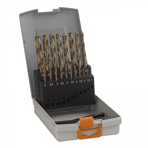 Hawera 19-teiliges Metallbohrer Set Pro-Box HSS-CO Cobalt 1 bis 10mm