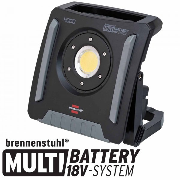 Brennenstuhl Multi Battery LED Akku Baustrahler 4000 MA 18Volt Multi-System