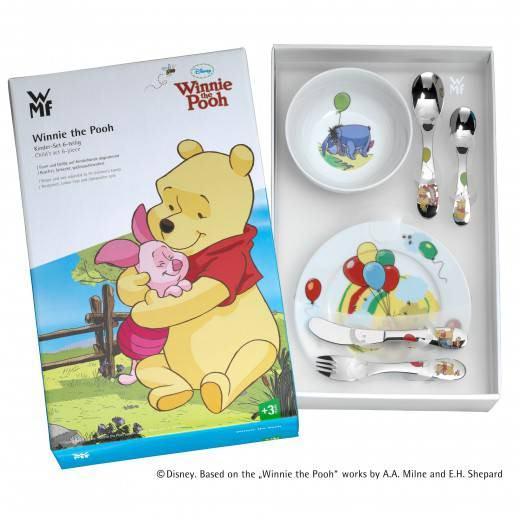 WMF 1283509964 Kinderbesteck-Set 6-teilig Winnie the Pooh Cromargan Edelstahl Rostfrei