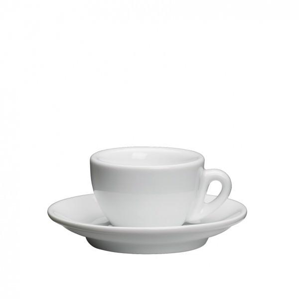 Cilio 2-teiliges Espressoset ROMA in Weiß aus dickwandiggem Porzellan