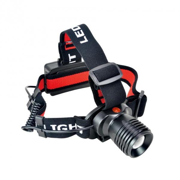 HMMüllner 1528 LED Kopflampe 3 Watt mit Batterien 2 Leuchtfunktionen Neigung verstellbar