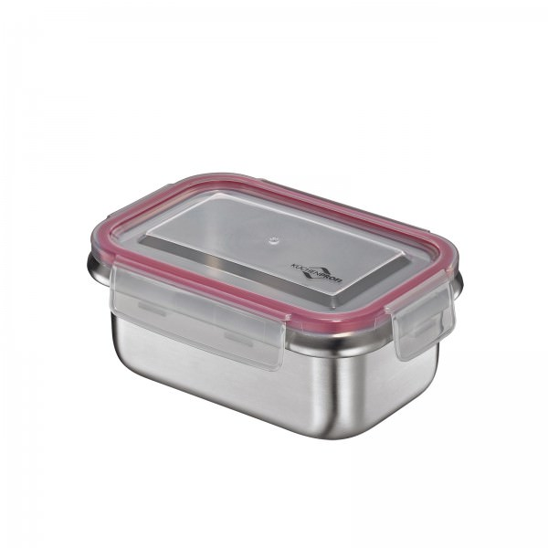Küchenprofi Lunchbox 500ml Edelstahl mit Kunststoffdeckel auslaufsicher