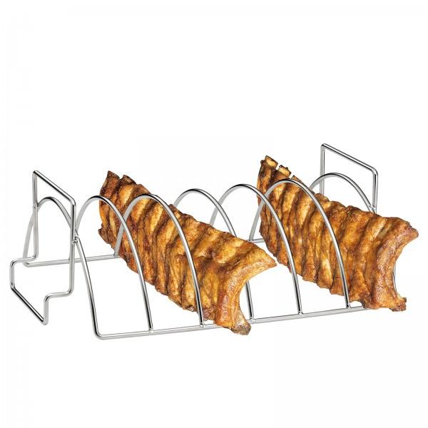 Küchenprofi 38cm Spareribs und Braten-Rack BBQ Edelstahl 1066532800
