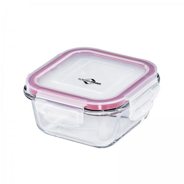 Küchenprofi 12cm 300ml Lunchbox Vorratsdose Glas quadratisch auslaufsicher 1001803512