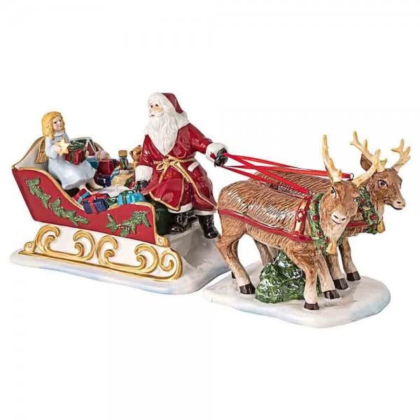 Villeroy und Boch 36cm Schlitten Christmas Toys Nostalgie Porzellan