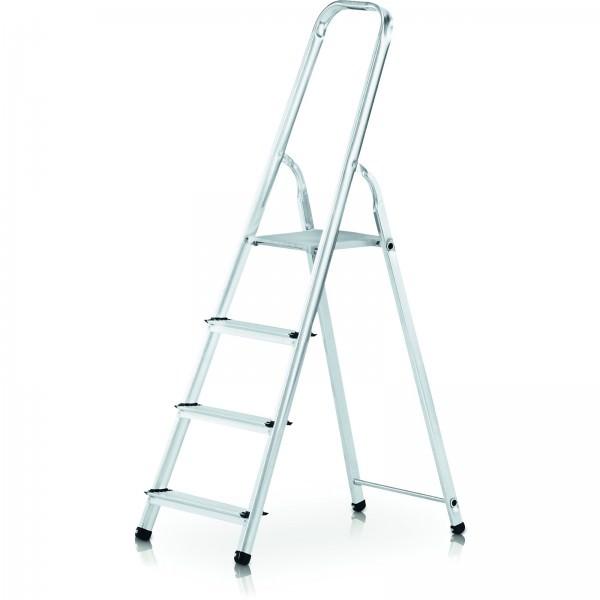 Zarges 4 stufige genietete Stufen Stehleiter 44144 Astra S Aluminium