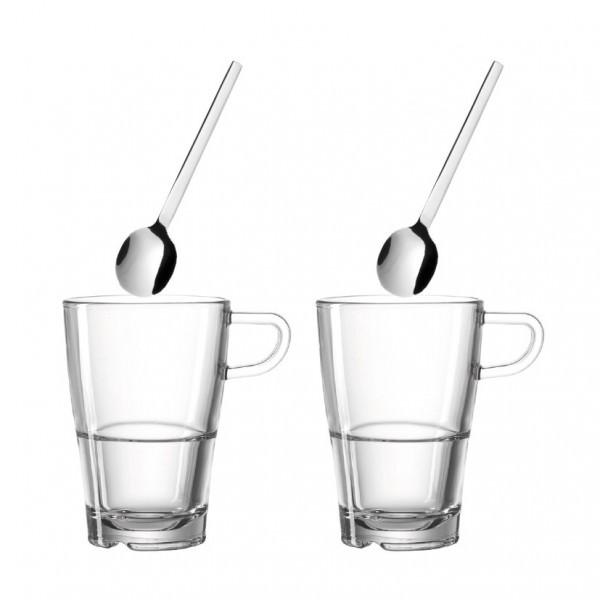Leonardo 024024 4-tlg Senso Kaffeeset Teebecher Kaffeebecher