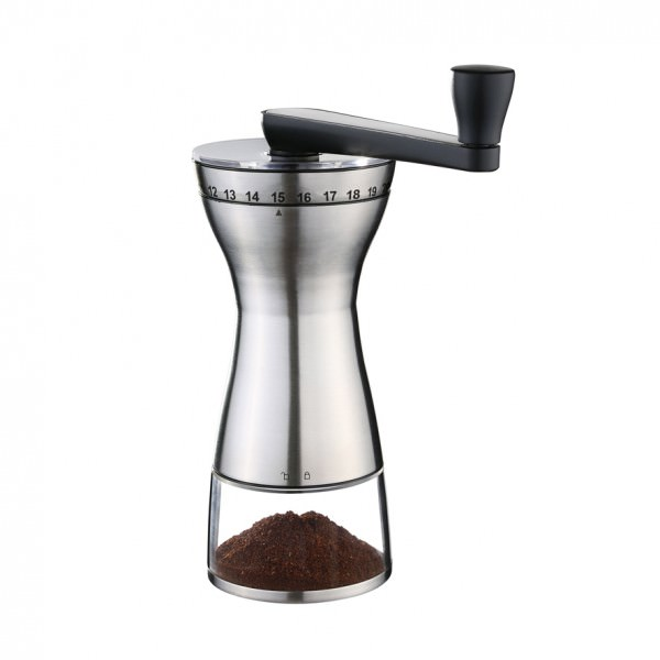 Zassenhaus 041156 Kaffeemühle 19,5 x 9cm MANAOS Edelstahl