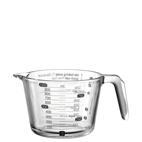 Leonardo 15cm 1000ml Messbecher Cucina Borosilikat Glas