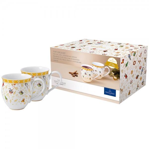 Villeroy & Boch 2er Set 340ml Becher Henkel Toy's Delight Jubiläumsedition Porzellan
