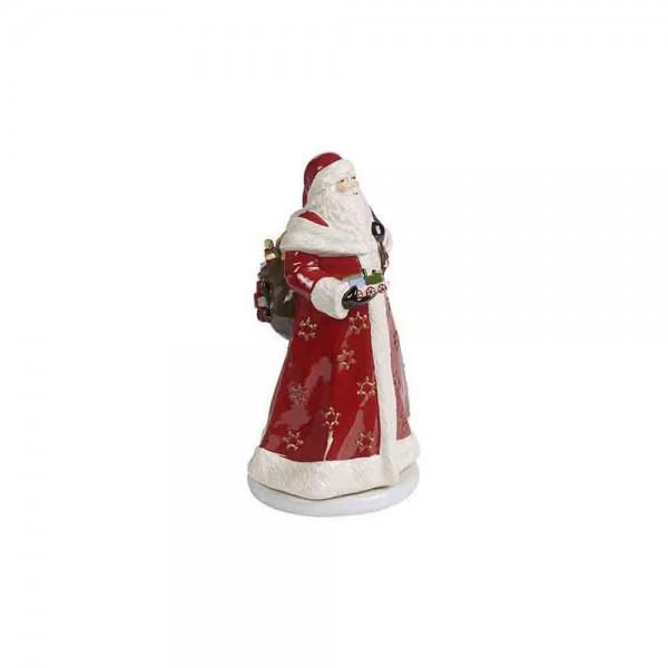 Villeroy und Boch 34cm Santa Spieluhr drehend bunt Porzellan 1486026547