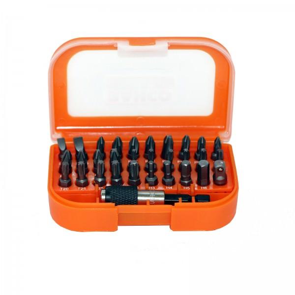 Bahco Bitsatz 31-teilig mit Kunststoffbox und Gürtelhalter