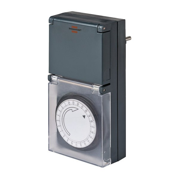 Zeitschaltuhr MMZ 44 mit IP 44 Schutz in der Farbe schwarz