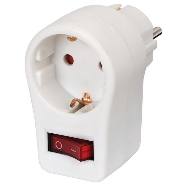 Adapter für die Steckdose in der Farbe weiß