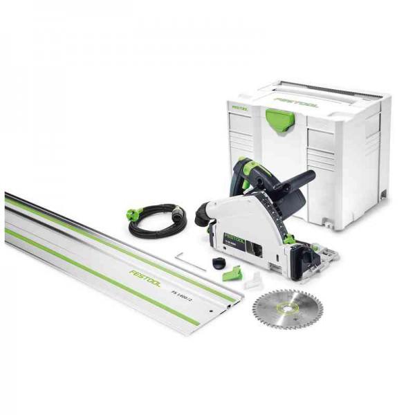 Festool Tauchsäge TS 55 REBQ-Plus-FS mit Führungsschiene Sägeblatt Koffer Set