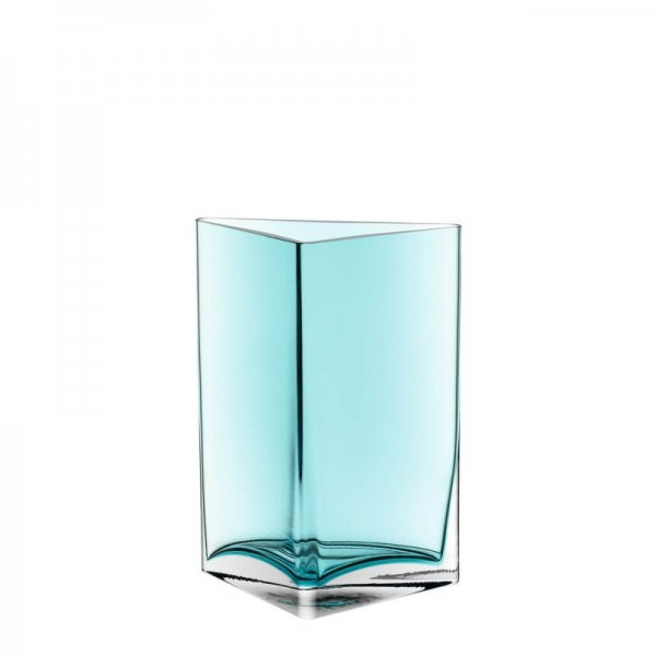 Leonardo 046951 Vase 23cm Dreieck türkis Centro Handmade