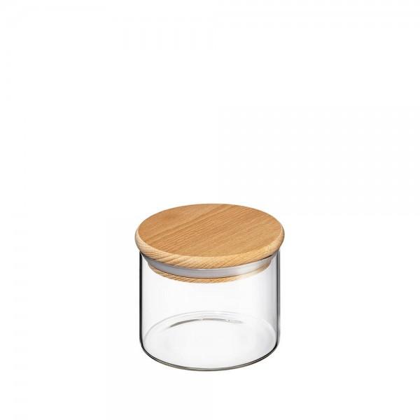 Zassenhaus 350ml Vorratsglas Borosilikatglas mit Holzdeckel