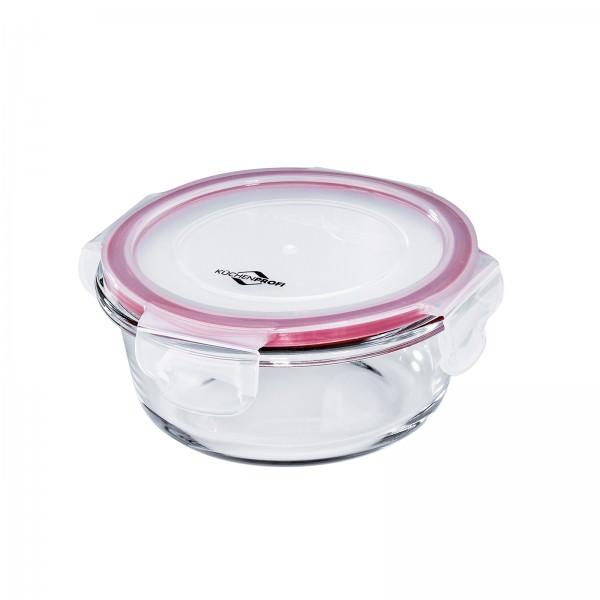 Küchenprofi 13cm 400ml Lunchbox Vorratsdose Glas rund 13x6cm auslaufsicher 1001703514
