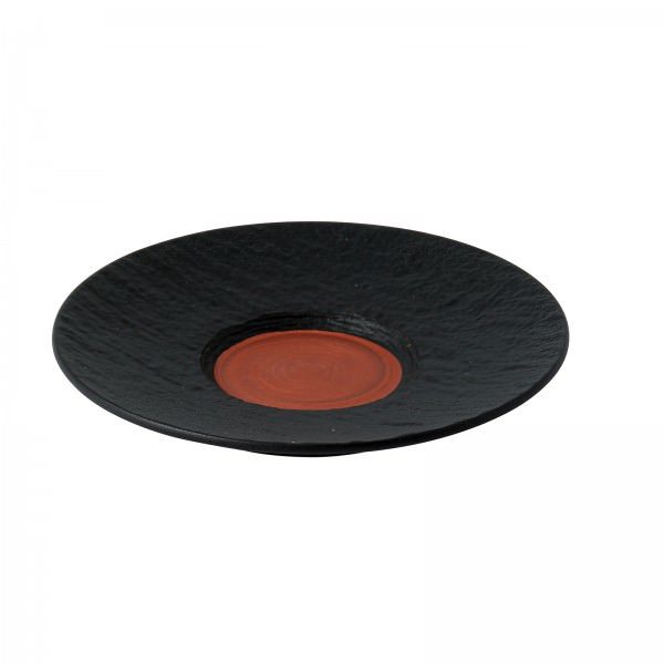 Villeroy & Boch 16cm Untertasse Manufactur Rock Glow Kaffee kupfer schwarz Porzellan