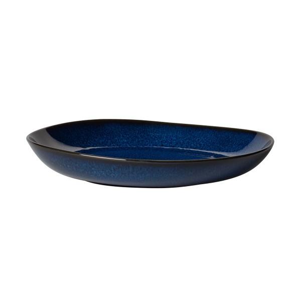 Villeroy & Boch 28cm flache Schale Lave bleu Steingut