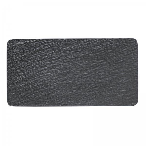 Villeroy & Boch 35x18cm Servierplatte rechteckig Manufacture Rock Porzellan Schiefer Optik