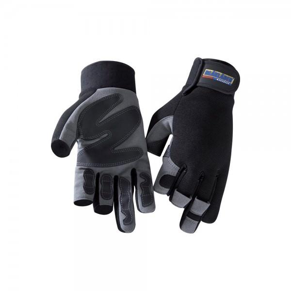 Blakläder Handschuh Paar Mechanik 3-Finger schwarz grau