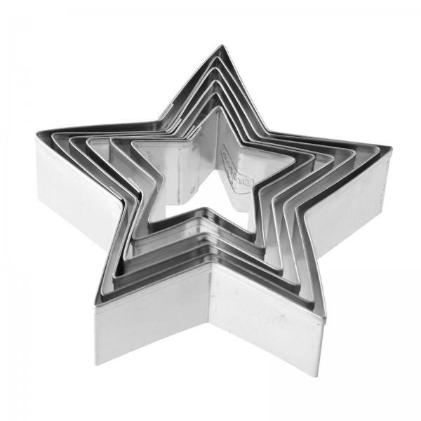 Dr. Oetker 6-teiliges Plätchen Ausstecher Set Sterne 1061