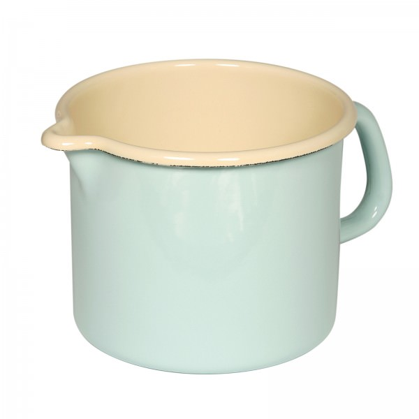 Riess Classic Emaille Schnabeltopf 12,5cm türkis 1,7 L Milchtopf Induktion