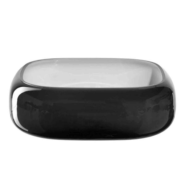 Leonardo 23x23cm Schale Glas grau durchgefärbt 041658