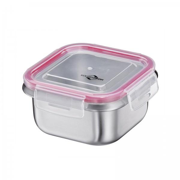 Küchenprofi 13cm 500ml Lunchbox Vorratsdose Edelstahl quadratisch auslaufsicher 1001852800
