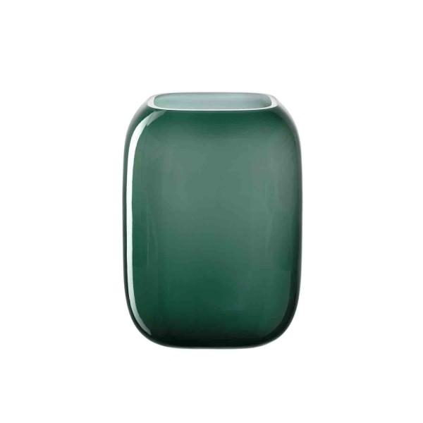 Leonardo 20x15cm Vase grün Glas MILANO 041664 Handgefertigt