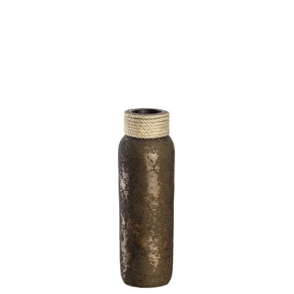Leonardo 40cm Vase Keramik Posto braun mit Kordel 041344