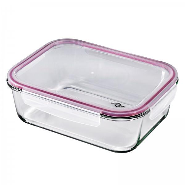 Küchenprofi 2500ml Lunchbox Vorratsdose Glas 28x21cm auslaufsicher