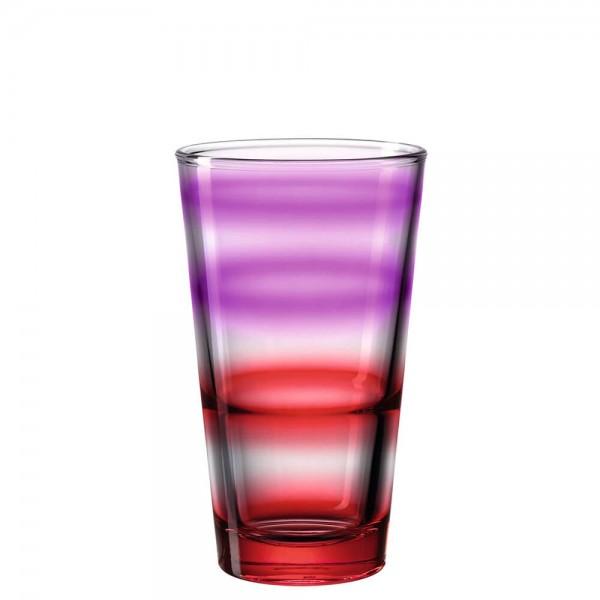 Leonardo 315ml Trinkglas aus Glas EVENT Colori Rot mit Farbverlauf 023779