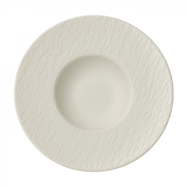 Villeroy & Boch 29cm Pastateller Manufacture Rock blanc Schiefer-Optik Porzellan