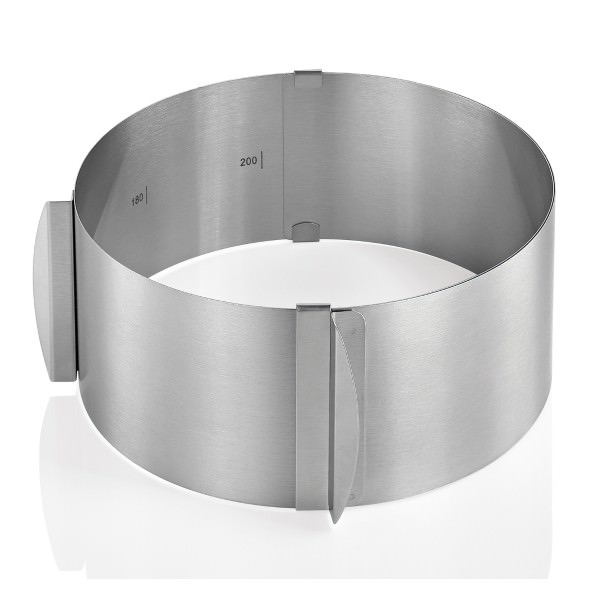 Küchenprofi 16-30cm Tortenring verstellbar Edelstahl extra hoch 8,5cm