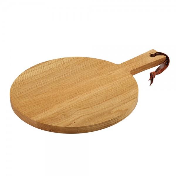 Zassenhaus 30x2cm Käseplatte Steakplatte mit Griff aus Eichenholz geölt 057232