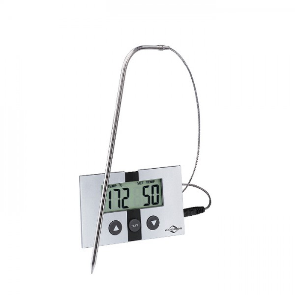 Küchenprofi 1065040000 Digital Bratenthermometer EASY Edelstahl langes Messkabel