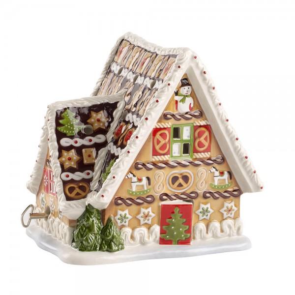 Villeroy & Boch 16cm Lebkuchenhaus mit Spieluhr Teelicht Christmas Toys